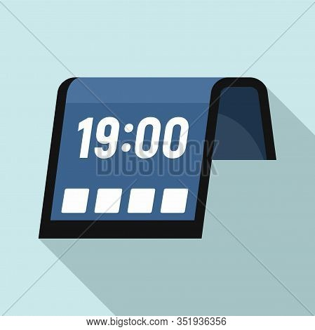 Flexible Display Icon. Flat Illustration Of Flexible Display Vector Icon For Web Design
