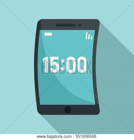 Foldable Device Icon. Flat Illustration Of Foldable Device Vector Icon For Web Design