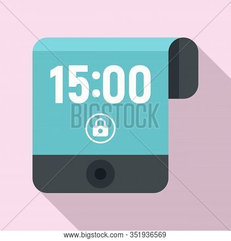 Contemporary Flexible Display Icon. Flat Illustration Of Contemporary Flexible Display Vector Icon F