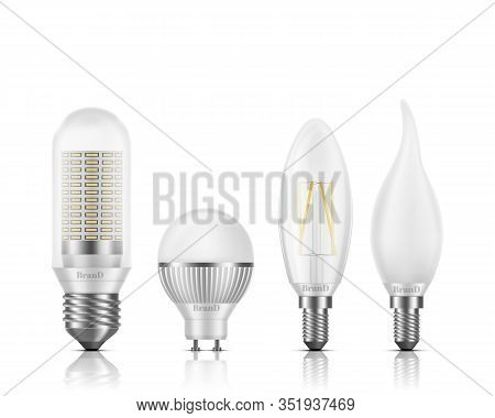 Flame, Globe, Tubular, Candle Shapes Light Led Bulbs With Different Types Of Base And Filament Eleme