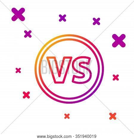 Color Line Vs Versus Battle Icon Isolated On White Background. Competition Vs Match Game, Martial Ba