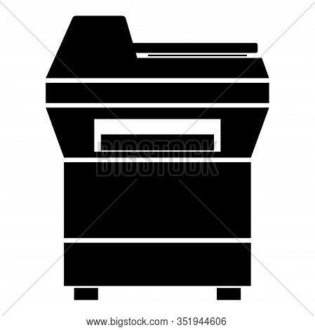 Copy Machine Printer Copier For Office Photocopier Duplicate Equipment Icon Black Color Vector Illus