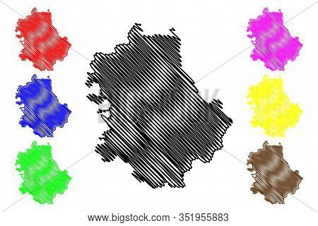 West Backa District (republic Of Serbia, Districts In Vojvodina) Map Vector Illustration, Scribble S