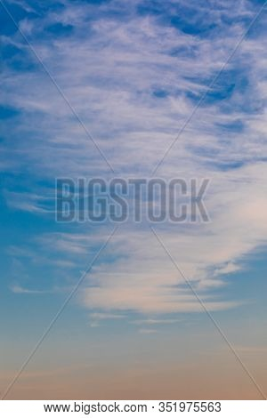 Clouds (cirrus And Strata) Over Blue Sky.