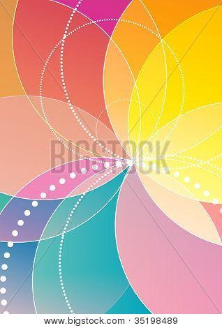 Spirograph rainbow background