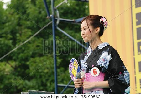 Miss Fuji Beauty Woman On The Main Stage Show