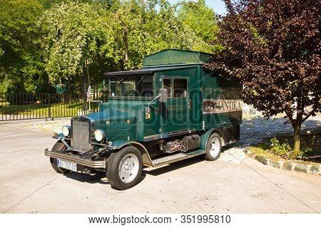 MOKRA GORA, SERBIA - SEPTEMBER 03: Vintage car in Mokra Gora on September 03, 2015 in Mokra Gora, Serbia.