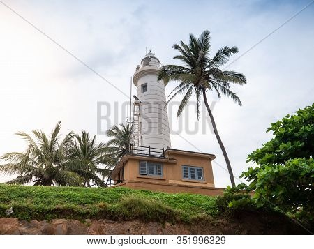 Beautiful View On The Lighthouse In Galle, Sri Lanka