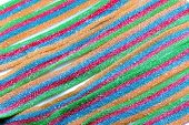 a view of a stripe sweet candy poster