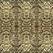 Background fabric indian style, fractal digital art poster
