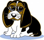Beagle Clipart of Dog Breed in Cartoon Style poster