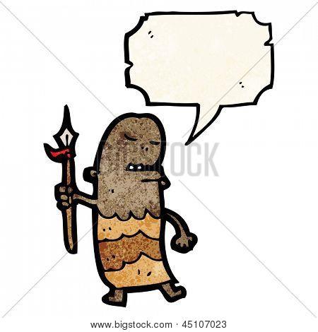 cartoon tribesman