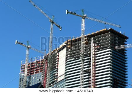 Cranes On A Construction Site