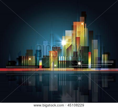 Skyline van de moderne stad