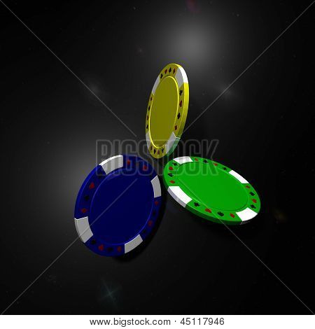 Clean Poker Chips