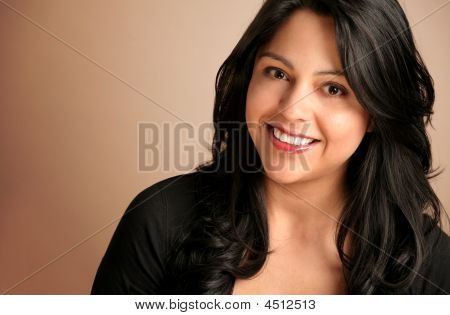 Happy Smiling Hispanic Woman