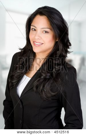 Confident Hispanic Businesswoman