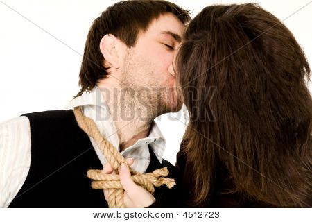 Kissing Couple With Rope