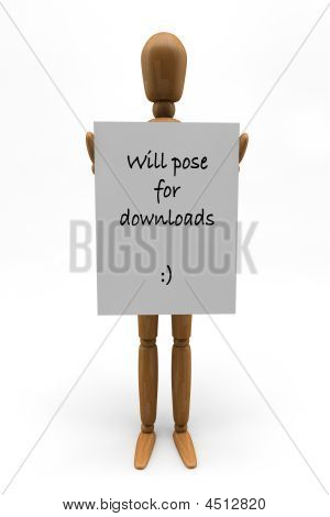 Mannequin Holding Sign