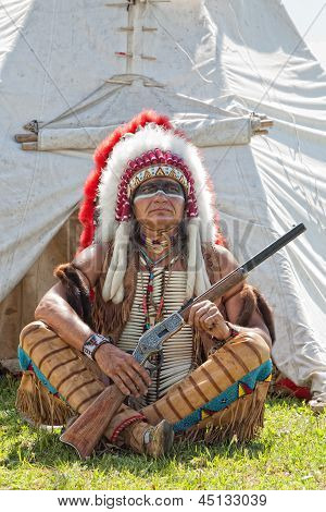 North American Indian in full dress