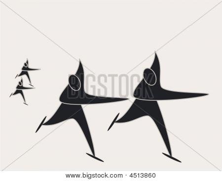 Speedskaters Pictogram
