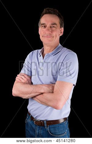Portrait Of Smiling Happy Man Arms Folded
