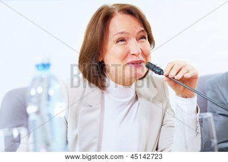 Business woman at meeting