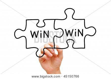 Win-Win-Puzzle-Konzept