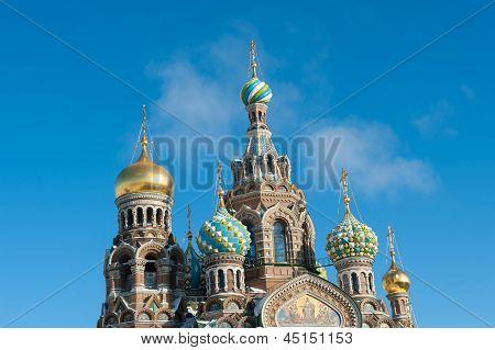 The Savior On The Blood Church Saint Petersburg, Russia
