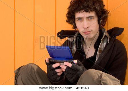 Urban Teen With Game Box