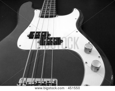 Black And White Base Guitar