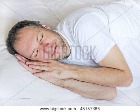 Attractive Man Sleeping