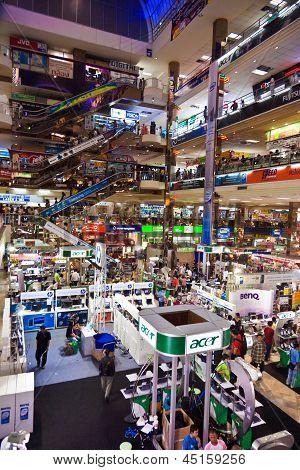 People Shopping Inside The Pantip Plaza