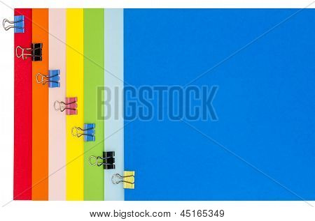 Rainbow Stationery With Clamps