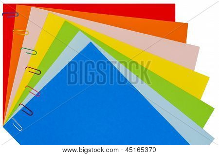 Rainbow Stationery With Paper-clips 02