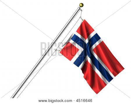 Isolated Norwegian Flag