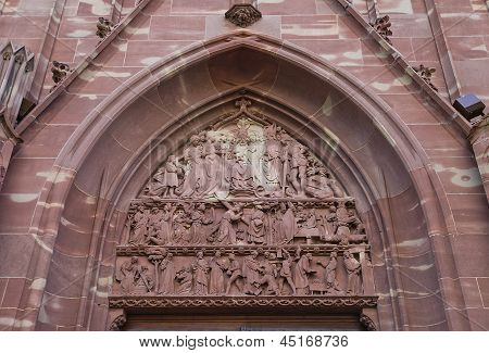 Tympanum Of Church Of Saint-pierre-le-vieux In Strasbourg