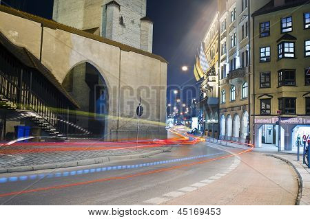 Streets at night, Munich, Germany