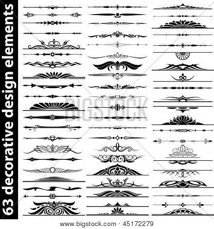 63 Decorative Design Elements