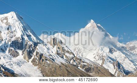 Mount Masherbrum, Karakorum Mountains, Pakistan
