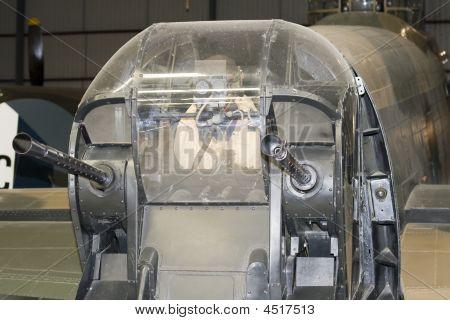 Rear Gun Turret Of A Lancaster Bomber