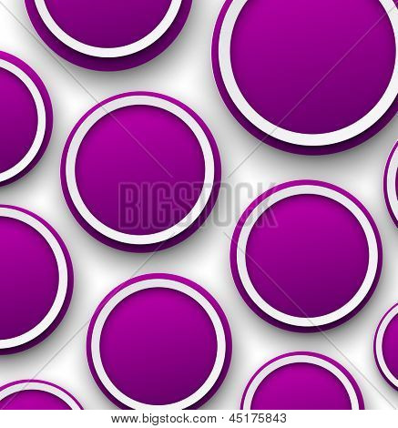 Vector abstract background composed of purple paper bubbles. Eps10.