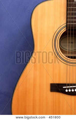Guitar In Blue Background