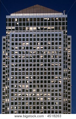 Lots of windows. the facede of office building poster