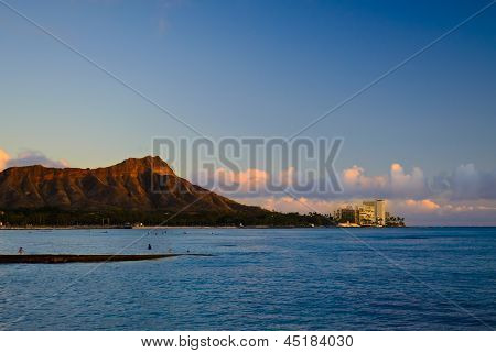 Diamond Head sunset view