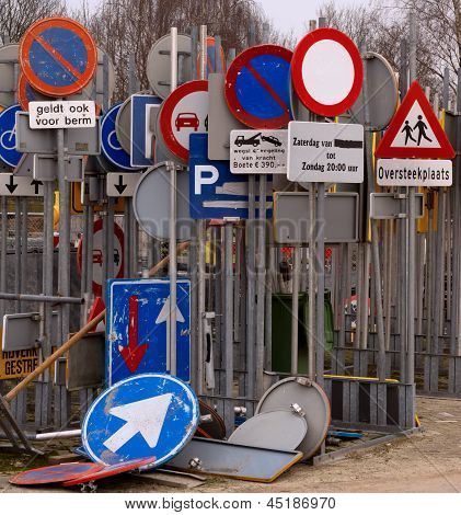 Storage Of Traffic Signs