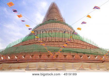 Old Pagoda Reparing.