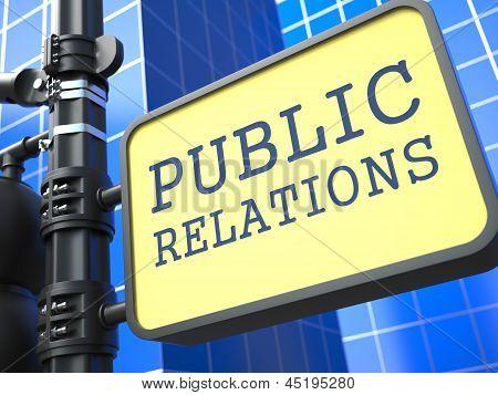 PR Concept. Public Relations Waymark.