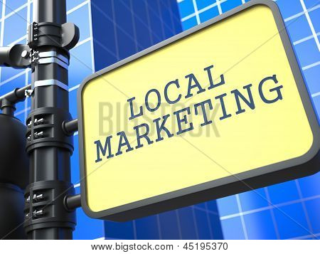 Business Concept. Local Marketing Waymark.
