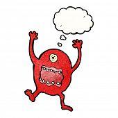 crazy cartoon monster poster